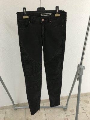 Noisy May Jeans de moto gris anthracite-noir