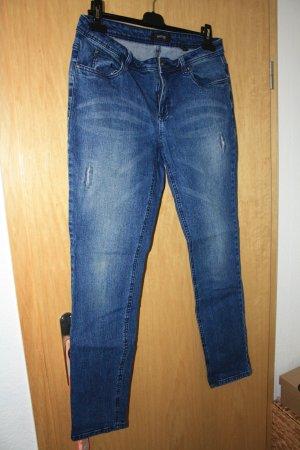 Tchibo / TCM 7/8-jeans donkerblauw Katoen
