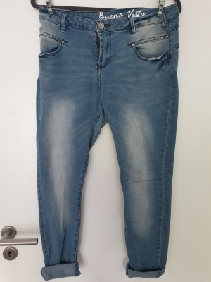 Buena Vista Drainpipe Trousers pale blue-azure