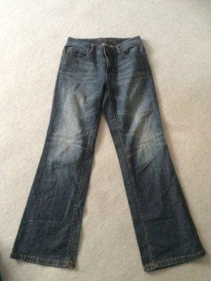 Jeans mit weiten Beinen von S. OIiver - Gr. 38/40