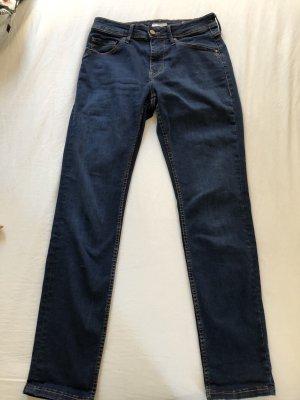 Mustang Hoge taille jeans blauw-neon blauw Katoen