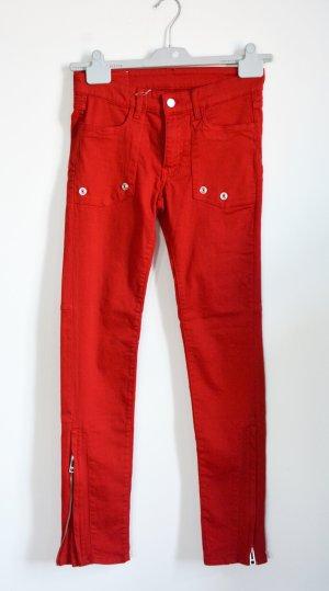 Zadig & Voltaire Vaquero elásticos rojo Algodón