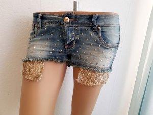 Monday Pantaloncino di jeans oro-blu Cotone