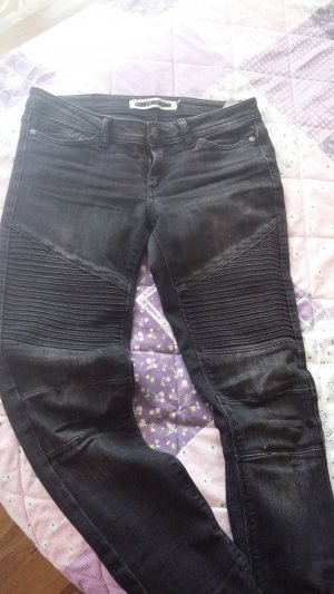 Biker jeans zwart