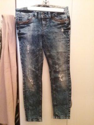 Jeans Only Amy Skinny,ausgefallene Waschung,Nieten, Cutouts