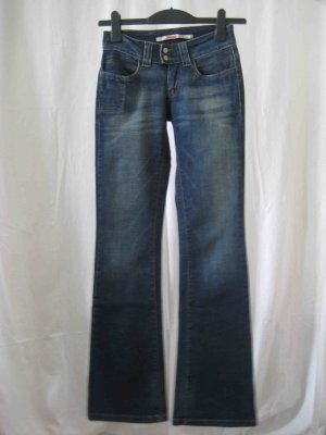 Only Boot Cut Jeans dark blue cotton
