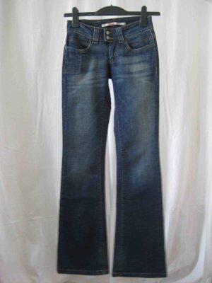 Only Jeans bootcut bleu foncé coton