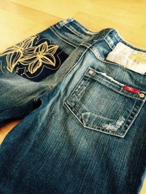 Jeans Only Bootcut Gold perlen Gr. 34/32 Blogger