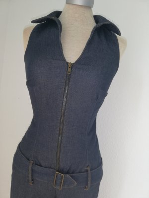 Jeans Overall Jumpsuit Catsuit blau Gr. 34 XS Melrose Karneval Fasching