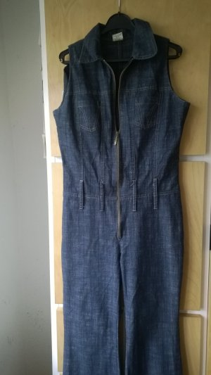 Jeans Overall mit Schlaghose