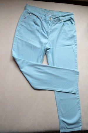 Jeans Pastell Hellblau gerades Bein