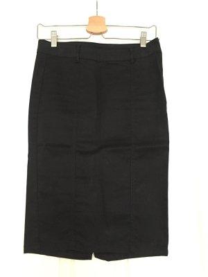 Jeans-Pencilskirt von Zara in schwarz-coated, Gr. M