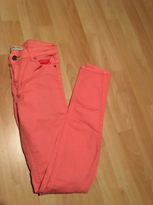 Blind Date Lage taille broek roze