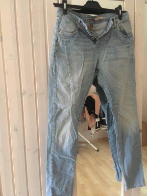 PLEASE Denim Low Rise Jeans azure