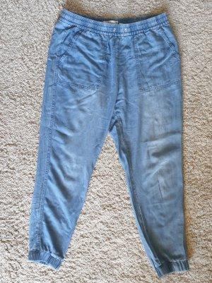 H&M Vaquero holgados azul acero Algodón