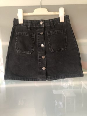Bershka Denim Skirt black