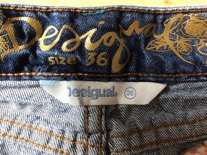 Desigual Jupe en jeans blanc-bleu azur