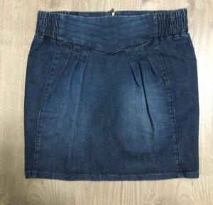Jeans Rock Falten vorne