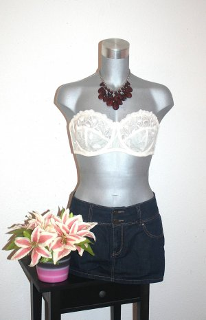 Jeans Rock Gr. 40/42 Blogger Style Dunkelblau
