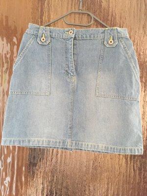 Jeans Rock, Hellblau, Größe 38