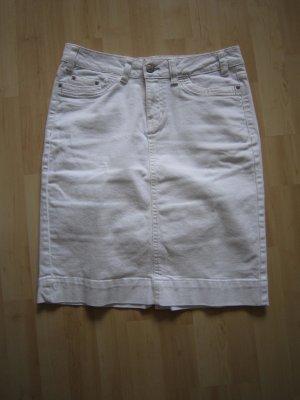 Jeans Rock in Weiß Gr. 38