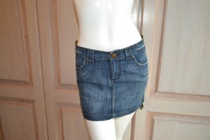 Jeans Rock Mini Zara blau