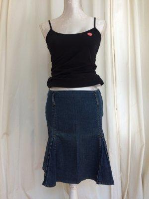 Jeans Rock mit Falten, Gr. 36, H&M