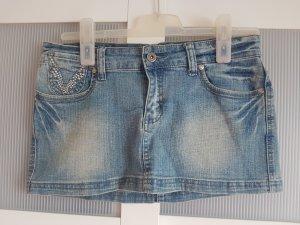 Jeans Rock mit Glitzer Steinen