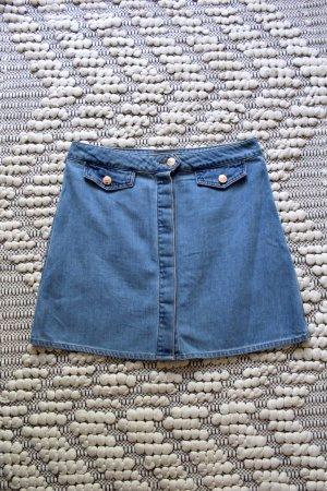 Vero Moda Denim Skirt cornflower blue-sand brown