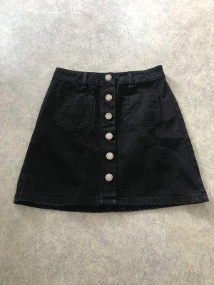 Jeans Rock mit Knöpfen und Taschen S neu