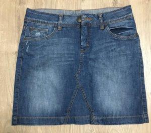 Jeans Rock mit Strass