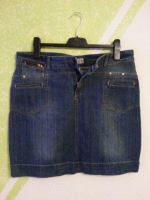 High Waist Skirt blue mixture fibre