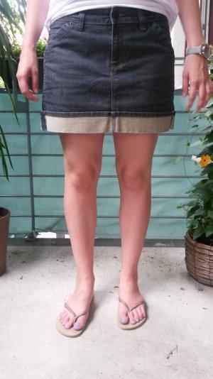 Jeans Rock von Zero mit farblich abgesetzter Kante