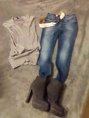 Tommy Hilfiger Denim Drainpipe Trousers blue