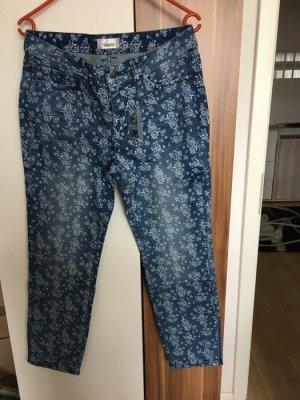 Jeans Röhrenjeans *Gr. 23* Blau (blue denim) Blumen *TESINI*