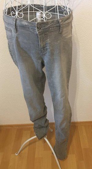 Jeans Röhrenjeans *Gr. 42* Grau *Up2Fashion*
