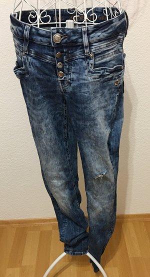 Jeans Röhrenjeans *Gr. W29 / L30* Blau *Glücksstern*