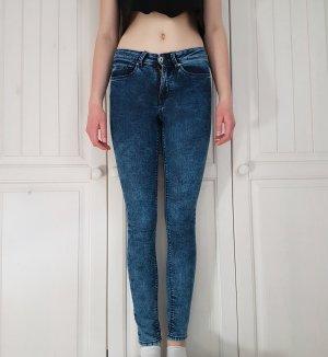 Jeans Röhrenjeans highwaist hose high waist röhren blau dunkelblau waschung 36 H&M