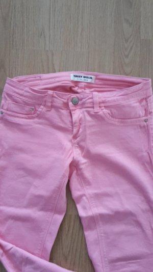 Jeans rosa Stretch Skinny Slim Fit Röhre Sommer Ankle