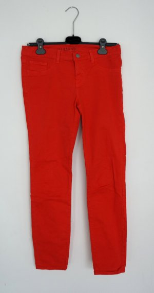 JBRAND Jeans skinny rouge fluo coton