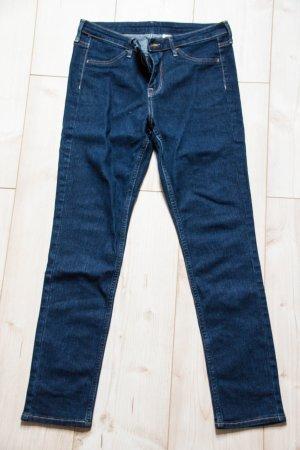 Jeans S 36 38 W27 skinny regular waist ankle H&M blau Hose Damen gerader Schnitt