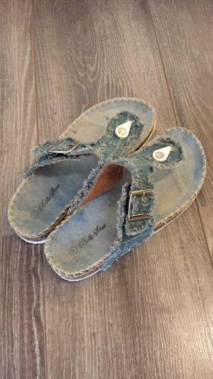 Toe-Post sandals light blue