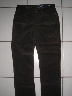 Jeans bootcut brun foncé coton