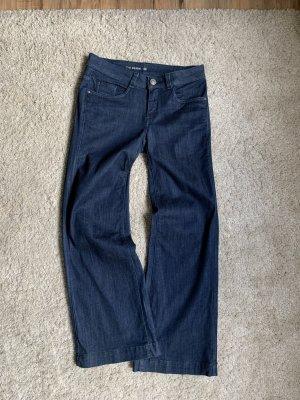 C&A Jeans a zampa d'elefante blu scuro