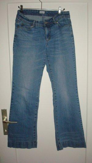 Jeans Schlaghose, blau