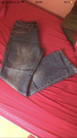 Jeans flare bleuet-bleu azur