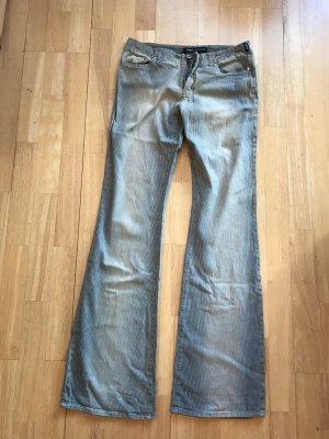 Versace Jeans a zampa d'elefante beige-azzurro