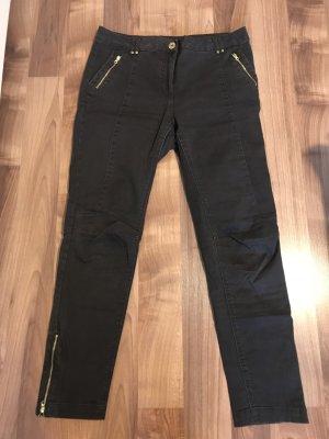 H&M Vaquero skinny negro-gris antracita