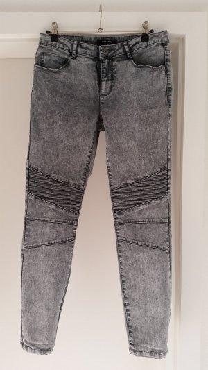 Jeans, schwarz-grau, More & More