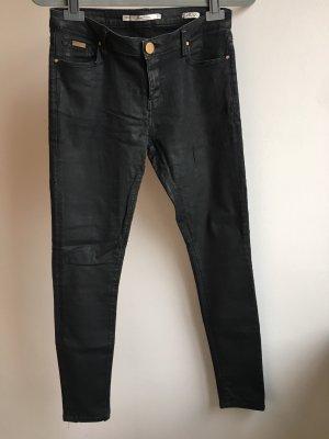 Jeans schwarz leicht beschichtet zara